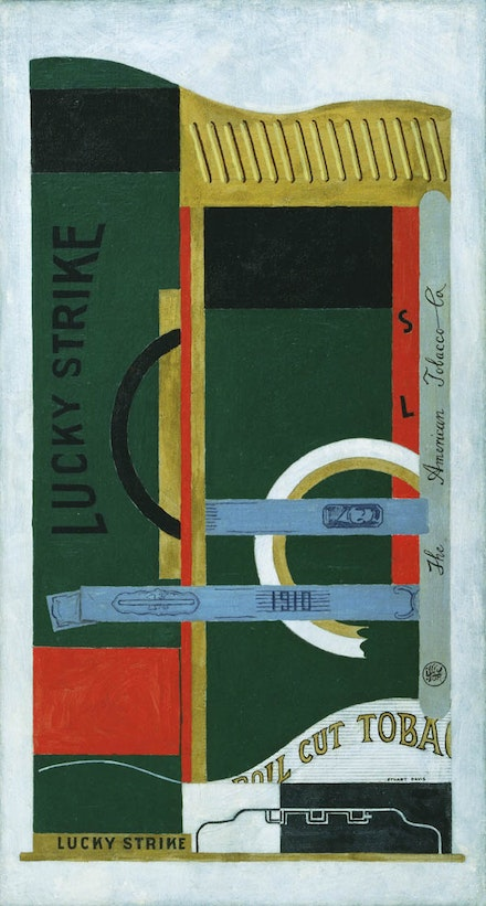 Stuart Davis, <i>Lucky Strike</i>, 1921. Oil on canvas. 33 1/4 x 18 inches. Courtesy The Museum of Modern Art, New York; gift of the American Tobacco Company, Inc., 1951. ©Estate of Stuart Davis / Licensed by VAGA, New York, NY.