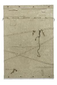 Harmony Hammond, <i>Things Various</i>, 2015. Oil and mixed media on canvas. 80 1/4 x 54 1/4 x 5 inches. Courtesy the artist and Alexander Gray Associates. © 2016 Harmony Hammond. Licensed by VAGA, New York.