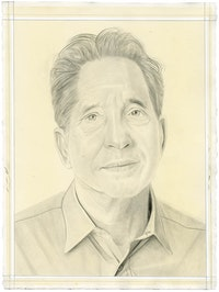 Portrait of Thomas Roma. Pencil on paper by Phong Bui. From a photo by Zack Garlitos.