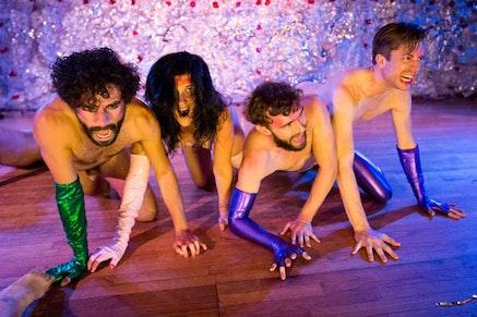 From L to R: Alvaro Gonzalez, Sarah White-Ayón, Rennie Lachlan McDougall, Luke Miller. Photo: Ian Douglas.