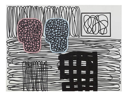 Jonathan Lasker, <em>Pictorial Objects</em>, 2014. Oil on linen. 60 × 80 inches. Courtesy Cheim & Read.