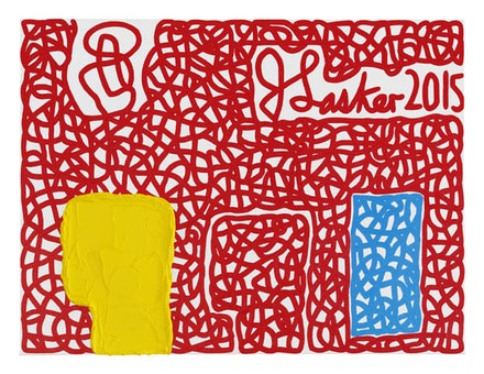 Jonathan Lasker, <em>Signatory Powers</em>, 2015. Oil on canvasboard. 12 × 16 inches. Courtesy Cheim & Read.
