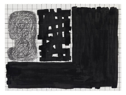 Jonathan Lasker, <em>Untitled</em>, 2013. Graphite and India ink on paper. 22 × 30 inches. Courtesy Cheim & Read.