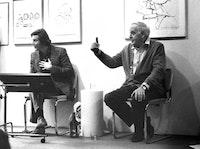 Bill Berkson and Philip Guston at Gallery Paule Anglim, San Francisco, January 1979. Courtesy of Bill Berkson.
