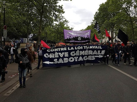 """Against the Labor Law: Sabotage—General Strike"""