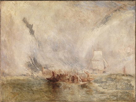 Joseph Mallord William Turner (British, 1775 – 1851), <i>Whalers</i>, ca. 1845. Oil on canvas. 35 7/8 x 48 inches (91.1. x 121.9 cm). Tate, London. Accepted by the nation as part of the Turner Bequest, 1856.