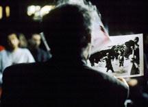 Jean-Luc Godard in Notre Musique © Les Films du Losange.