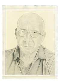 Portrait of Robert Bordo. Pencil on paper by Phong Bui.
