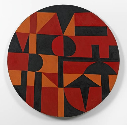 Carmen Herrera, <em>Iberic</em>, 1949. Acrylic on canvas on board, diameter: 40 inches. Collection of the artist. © Carmen Herrera. Courtesy Lisson Gallery.