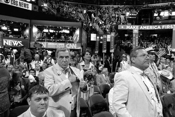 Convention Floor, Republican National Convention, Quicken Loans Arena, Cleveland, Ohio. Photo: Allen Spore.
