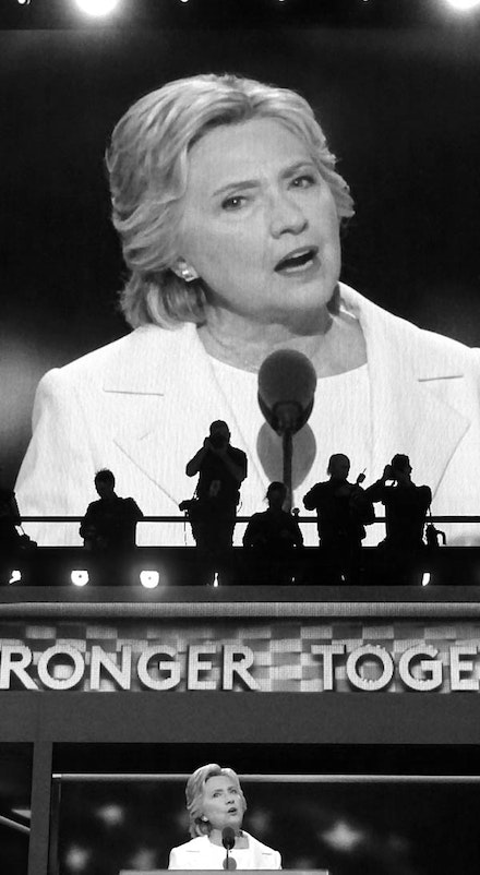 Hillary Rodham Clinton Acceptance Speech. Democratic National Convention, Wells Fargo Arena, Philadelphia, Pennsylvania.  July 28, 2016. Photo: Jon Winet.