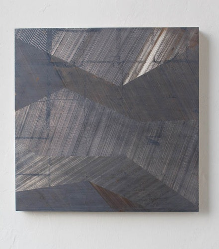 Yoshiaki Mochizuki, <em>Untitled 5/25</em>, 2016. Gesso on board, clay, and moongold leaf. 20 &times; 20 inches. Courtesy the artist and Marlborough Chelsea.