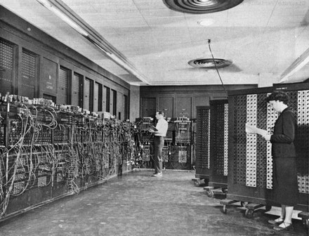 ENIAC, c. 1947 – 55. Photo: U.S. Army / Public Domain.