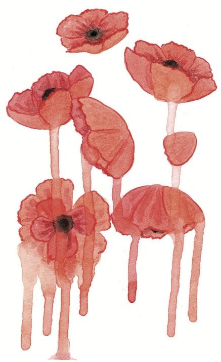 """Dissonant blossoms blur."" Illustration by Megan Piontkowski."
