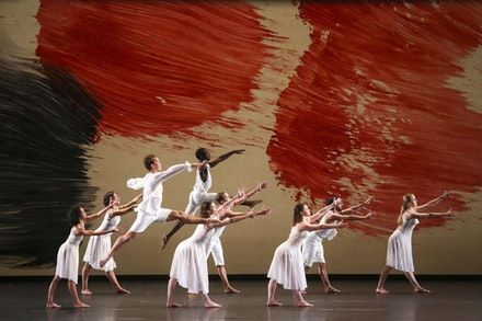 Mark Morris Dance Group in <em>Mozart Dances</em> by Mark Morris. Photo: Richard Termine.