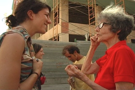 Filmmaker Michelle Memran and Playwright Irene Fornes in Cuba. Still from <em>The Rest I Make Up</em> by Michelle Memran.
