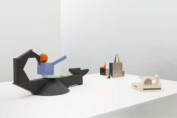 Installation view: <em>Peter Shire, A Survey of Ceramics: 1970s to the Present</em>. Derek Eller Gallery, New York, September 8 - October 9, 2016. Courtesy Derek Eller Gallery, New York.