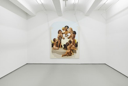 Installation view: <em>Meleko Mokgosi, Democratic Intuition, Lerato</em>.  Jack Shainman Gallery, New York. September 8 – October 22, 2016.