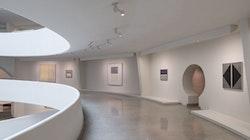 Installation view: <em>Agnes Martin</em>, Solomon R. Guggenheim Museum, New York, October 7, 2016 &#8211; January 11, 2017. Photo: David Heald.