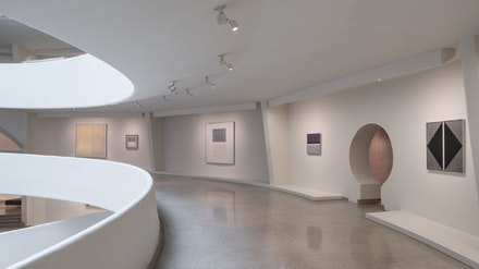 Installation view: <em>Agnes Martin</em>, Solomon R. Guggenheim Museum, New York, October 7, 2016 – January 11, 2017. Photo: David Heald.