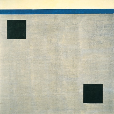 Agnes Martin. <em>Untitled</em>, 2004. Acrylic on canvas. 60 × 60 inches. Collection of Mitzi and Warren Eisenberg. © 2015 Agnes Martin/Artists Rights Society (ARS), New York.
