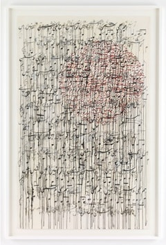 Shahzia Sikander, <i>I Am or Am I Not My Own Enemy</i>, 2011. Ink and gouache on paper, 82 x 51 inches. Courtesy Shahzia Sikander Studio.
