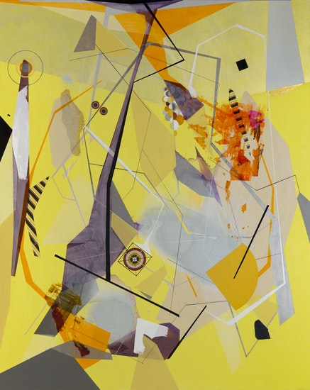 Dannielle Tegeder, <em>Lessons in the Consolidation of Inhuman Factors</em>, 2016. Acrylic on canvas, 48 x 60 inches. Courtesy of the artist.