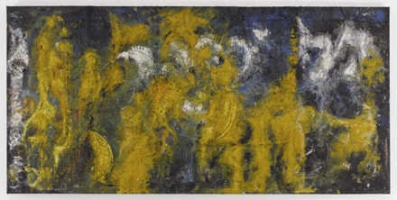 Richard Pousette-Dart. <em>Yellow Amorphous,</em> 1950. Oil on canvas. 45-1/2 x 92 inches. Photograph by Kerry Ryan McFate, Courtesy of Pace Gallery. © 2016 Estate of Richard Pousette-Dart / Artists Rights Society (ARS), New York.