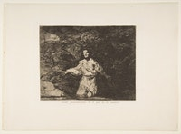 "Francisco de Goya, Plate 1 from ""The Disasters of War"" (""Los Desastres de la Guerra""): <em>Sad forebodings of what is to happen</em>. (<em>Tristes presentimientos de lo que ha de acontecer</em>.), ca. 1815, published 1863. Etching, burin, drypoint, and burnisher. 9 15/16 × 13 1/2 inches. Purchase, Rogers Fund and Jacob H. Schiff Bequest, 1922. Metmuseum.org, OASC."