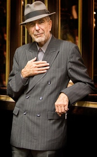 Leonard Cohen. Photo courtesy of Sony Music.