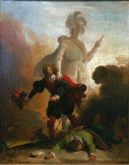Alexandre-Évariste Fragonard, <em>Don Juan and the Statue of the Commander</em>.