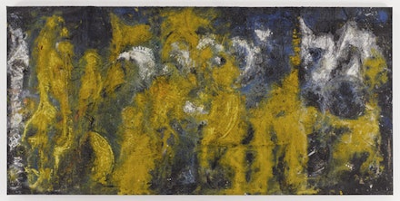 Richard Pousette-Dart,<em> Yellow Amorphous</em>, 1950. Oil on canvas. 45 1/2 × 92 inches. Photograph by Kerry Ryan McFate, Courtesy of Pace Gallery. © 2016 Estate of Richard Pousette-Dart / Artists Rights Society (ARS), New York.