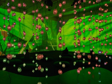 Installation View: <em>Pipilotti Rist: Pixel Forest</em>, New Museum, October 26, 2016 – January 15, 2017.