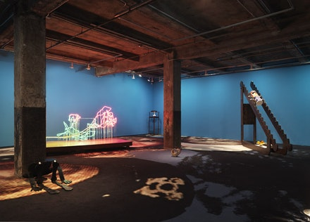 """Installation view: """"A Man Full of Trouble."""" Courtesy the artist and Maccarone, NY / LA."""
