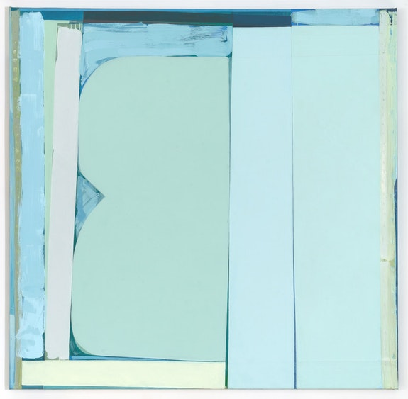 Julia Rommel, <em>Electric Blanket</em>, 2016. Oil on linen. 77 × 77 inches. Courtesy the artist and Bureau New York.