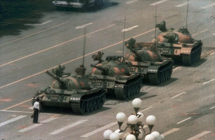 Tiananmen Square, June 5, 1989. (AP Photo/Jeff Widener)