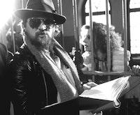 Rainer Werner Fassbinder and Hanna Schygulla during a rehearsal. (c) Roger Fritz