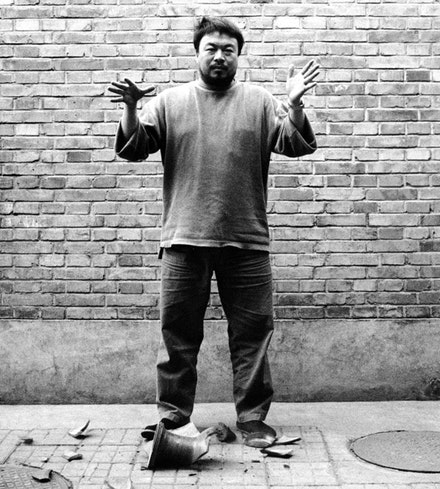 Ai Weiwei, <em>Dropping a Han Dynasty Urn</em>, 1995. Courtesy Ai Weiwei Studio.