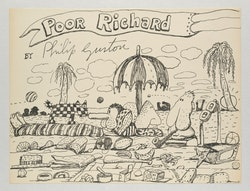 Philip Guston, <em>Untitled (Poor Richard)</em>, 1971. Ink on paper. 10 1/2 x 13 7/8 inches. Photo: Genevieve Hanson. &copy; The Estate of Philip Guston. Courtesy Hauser &amp; Wirth.