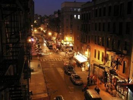 Wolfgang Staehle, <em>Ludlow Street (2005-10-04)</em>, 2005. 6748 digital photographs, 24-hour cycle, custom software.