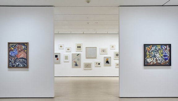 Installation view: <em>A Revolutionary Impulse: The Rise of the Russian Avant-Garde</em>. The Museum of Modern Art, New York, December 3, 2016 - March 12, 2017. © 2016 The Museum of Modern Art. Photo: Robert Gerhardt.