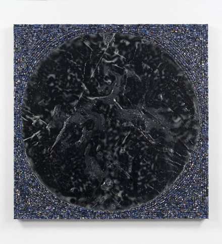 Jack Whitten. <em>The Third Portal</em>, 2016. Acrylic and mixed media on canvas. 48 × 48 inches. © Jack Whitten. Courtesy the artist and Hauser & Wirth.