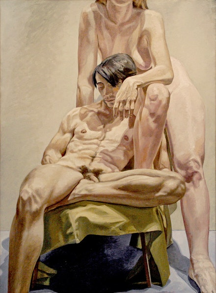 Philip Pearlstein, <em>Models in the Studio</em>, 1965. Oil on canvas. 72 × 53 inches. Private Collection New York.