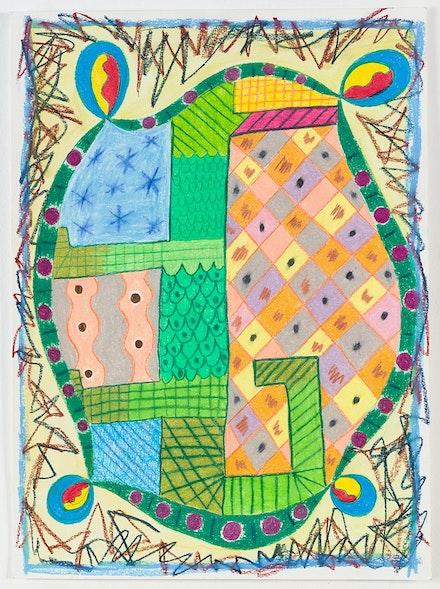 Tamara Gonzales, <em>untitled</em>, 2015. Colored pencil on paper. 15 x 11 inches. Courtesy the artist and Klaus von Nichtssagend Gallery, New York.