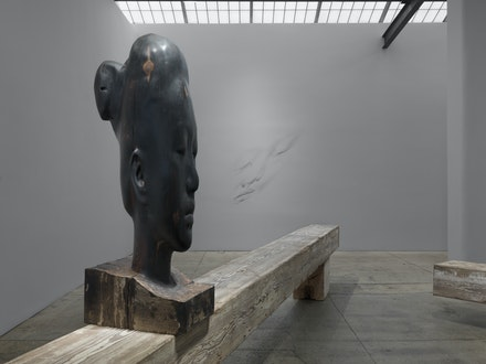 Installation view: <em>Silence</em>, Galerie Lelong, New York, February 2 – March 11, 2017. © Jaume Plensa. Courtesy Galerie Lelong, New York.