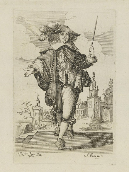 Abraham Bosse after Jean de Saint Igny, Plate 4 from <em>The Garden of the French Nobility</em>, 1629. Etching and burin, 14 1/4 × 9 1/2 cm. Photo © Victoria and Albert Museum, London.