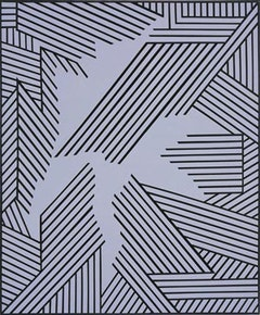 "Nicholas Krushenick, ""Untitled"" (1998). Acrylic on linen. 36"" x 30""."