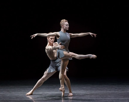 Sara Mearns and Chase Finlay in Pontus Lidberg's <em>The Shimmering Asphalt</em>. Photo: Paul Kolnik.