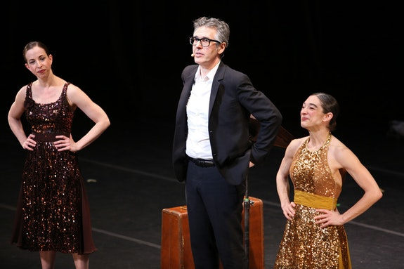 Anna Bass, Ira Glass, and Monica Bill Barnes. Photo: Julieta Cervantes.
