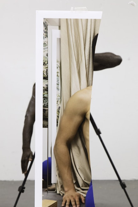 Paul Sepuya,<em> Mirror Study</em>, 2016. Archival pigment print. 51 x 34 inches. Edition of 5. (c) Paul Mpagi Sepuya. Courtesy the artist and Yancey Richardson Gallery.